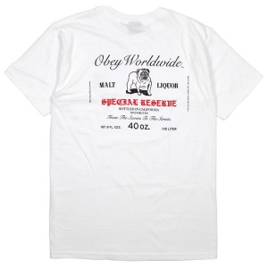 OBEY / SPECIAL RESERVE BASIC TEE (WHITE)