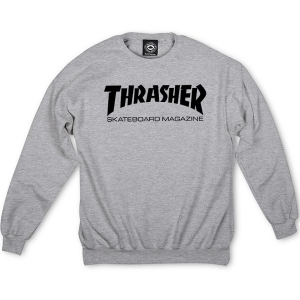 THRASHER / SKATE MAG CREWNECK SWEAT (GRAY)