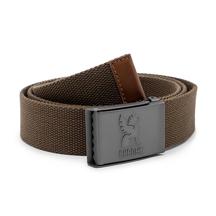 CHROME / WEBBED BELT 2.0  (OLIVE)