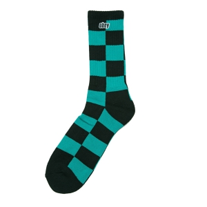 OBEY / CHECKERS SOCKS (TEAL/BLACK)