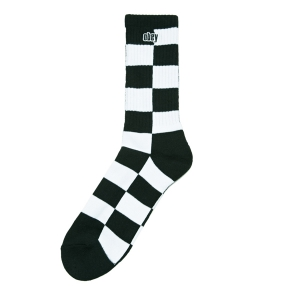 OBEY / CHECKERS SOCKS (BLACK/WHITE)