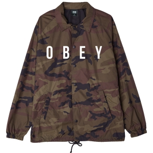 OBEY / ANYWAY COACHES JACKET (CAMO)