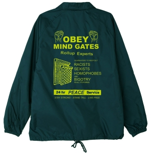 OBEY / MIND GATES COACHES JACKET (DARK TEAL)