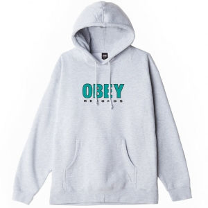 OBEY / OBEY RECORDS 2 PULLOVER HOODIE (HEATHER GREY)