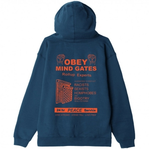 OBEY / MIND GATE PULLOVER HOODIE (SLATE BLUE)