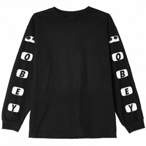 OBEY / SCENE MISSING BASIC L/S TEE (BLACK)