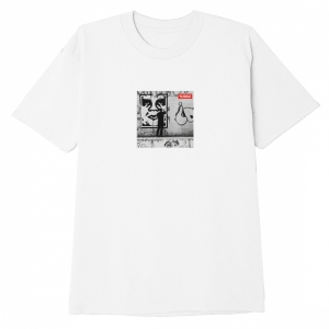OBEY / OBEY THE MEDIUM IS THE MESSAGE CLASSIC TEE (WHITE)