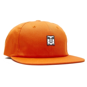 OBEY / ICON FACE 6 PANEL STRAPBACK CAP (CARROT)