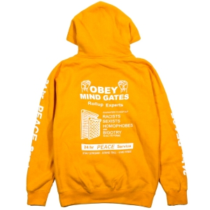 OBEY / MIND GATE PULLOVER HOODIE (GOLD)