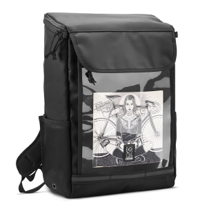 CHROME / VOLCAN BACKPACK (BLACK CLEAR TARP)