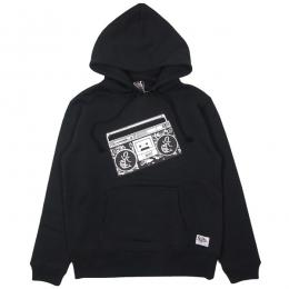 SILLY GOOD / STEREO PULLOVER PARKA (BLACK)