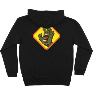 SANTA CRUZ / SCREAMING HAND BADGE PULLOVER HOODIE (BLACK)
