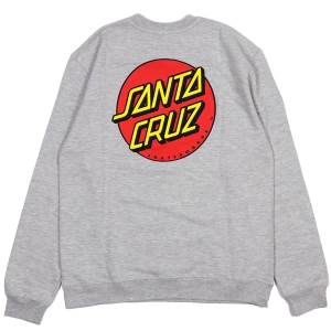 SANTA CRUZ / CLASSIC DOT CREWNECK SWEAT (GREY HEATHER)