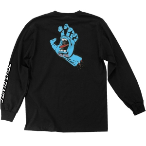 SANTA CRUZ / SCREAMING HAND L/S TEE (BLACK)