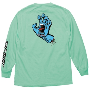 SANTA CRUZ / SCREAMING HAND L/S TEE (CELADON)