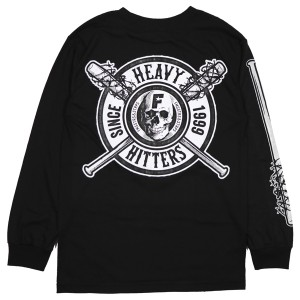 FAMOUS STARS AND STRAPS / HEAVY HITTERS L/S TEE (BLACK)