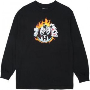 THE HUNDREDS / PLAYIN' THE ODDS L/S TEE (BLACK)