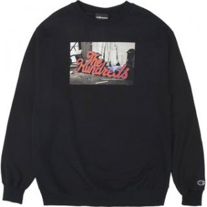 THE HUNDREDS / WEARHOUSE CHAMPION CREWNECK SWEAT (BLACK)