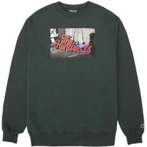 THE HUNDREDS / WEARHOUSE CHAMPION CREWNECK SWEAT (DARK GREEN)