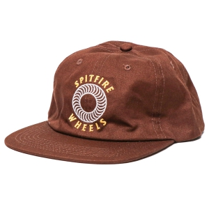 SPITFIRE / OG CLASSICS SNAPBACK CAP (DARK BROWN/YELLOW/WHITE)