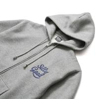 SILLY GOOD / SWEET LOGO ZIP PARKA (GRAY)