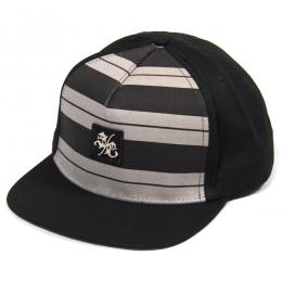 SANTA CRUZ / CHARLIE BROWN SNAPBACK CAP (BLACK/GREY)