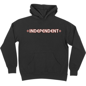 INDEPENDENT / BAR/CROSS PULLOVER HOODIE (BLACK)