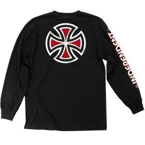 INDEPENDENT / BAR/CROSS L/S TEE (BLACK)