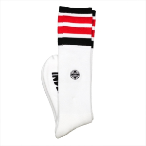 INDEPENDENT / INDY CHARGED CREW SOCKS (WHITE)