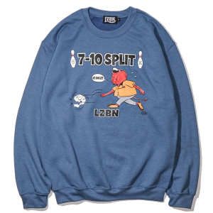 LZBN / 7-10 SPRIT CREWNECK SWEAT (INDIGO)