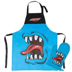 SANTA CRUZ / PHILLIPS HAND BBQ APRON W/MITT (BLUE/BLACK)