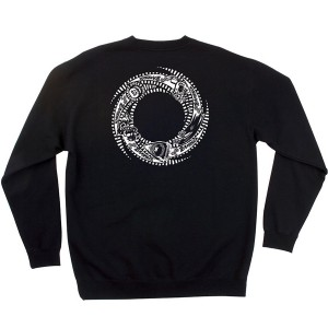 SANTA CRUZ / OGSC TEAM RIDER CREWNECK SWEAT (BLACK)