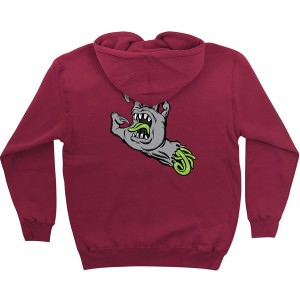 SANTA CRUZ / PHILLIPS HAND PULLOVER HOODIE (CURRANT)