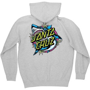 SANTA CRUZ / SHARK DOT PULLOVER HOODIE (GREY HEATHER)