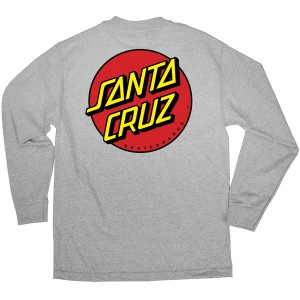 SANTA CRUZ / CLASSIC DOT L/S TEE (ATHLETIC HEATHER)