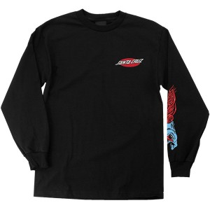 SANTA CRUZ / PHILLIPS HAND L/S TEE (BLACK)