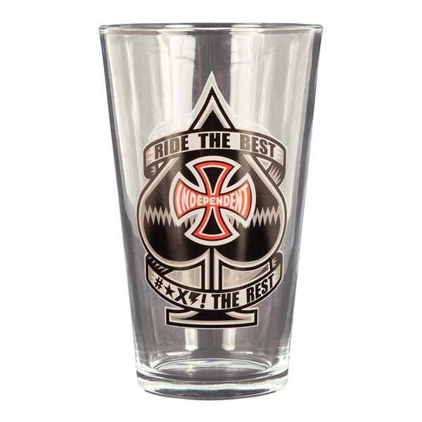 INDEPENDENT / ANTE PINT GLASS (CLEAR)