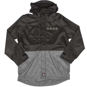 INDEPENDENT / BREAKER ALL WEATHER HOODED JACKET (BLACK/DARK GREY)