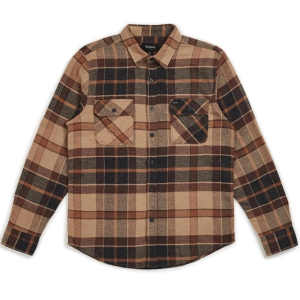 BRIXTON / BOWERY L/S FLANNEL SHIRT (CREAM/COPPER)
