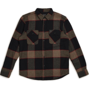 BRIXTON / BOWERY L/S FLANNEL SHIRT (HEATHER GREY/CHARCOAL)