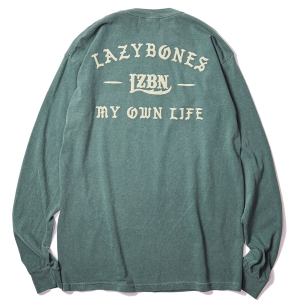 LZBN / ANCIENT GARMENT DYED L/S TEE (BLUE SPRUCE)