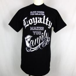 FAMOUS STARS AND STRAPS / LOYALTY FAMILY TEE (BLACK)
