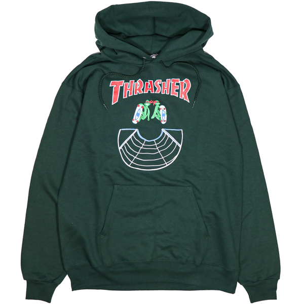 THRASHER / DOUBLES PULLOVER HOODIE (FOREST)