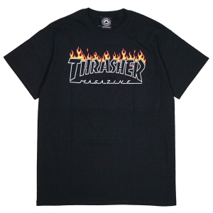THRASHER / SCORCHED OUTLINE TEE (BLACK)