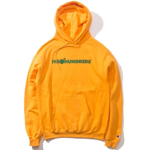 THE HUNDREDS / BAR CHAMPION PULLOVER HOODIE (GOLD)