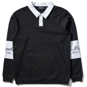 THE HUNDREDS / STACK L/S POLO SWEAT (BLACK)