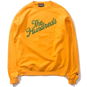 THE HUNDREDS / SLANT CHAMPION CREWNECK SWEAT (GOLD)