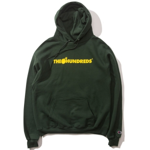 THE HUNDREDS / BAR CHAMPION PULLOVER HOODIE (DARK GREEN)