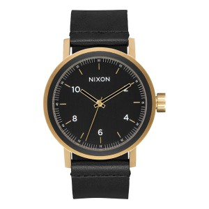 NIXON / THE STARK LEATHER (ALL BLACK/GOLD)