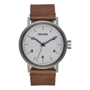 NIXON / THE STARK LEATHER (SILVER/SADDLE)